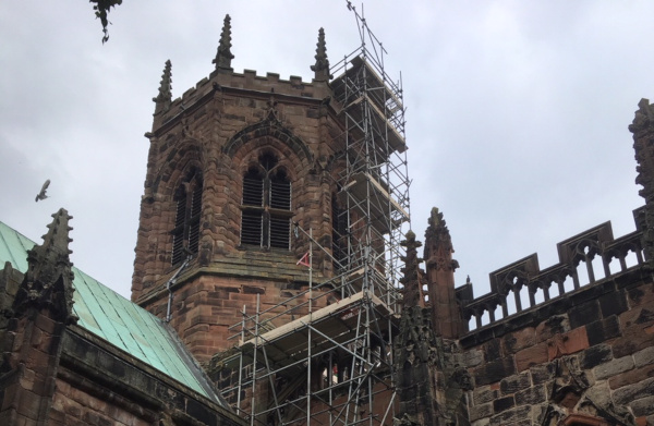 Church with Netwell Scaffolding.